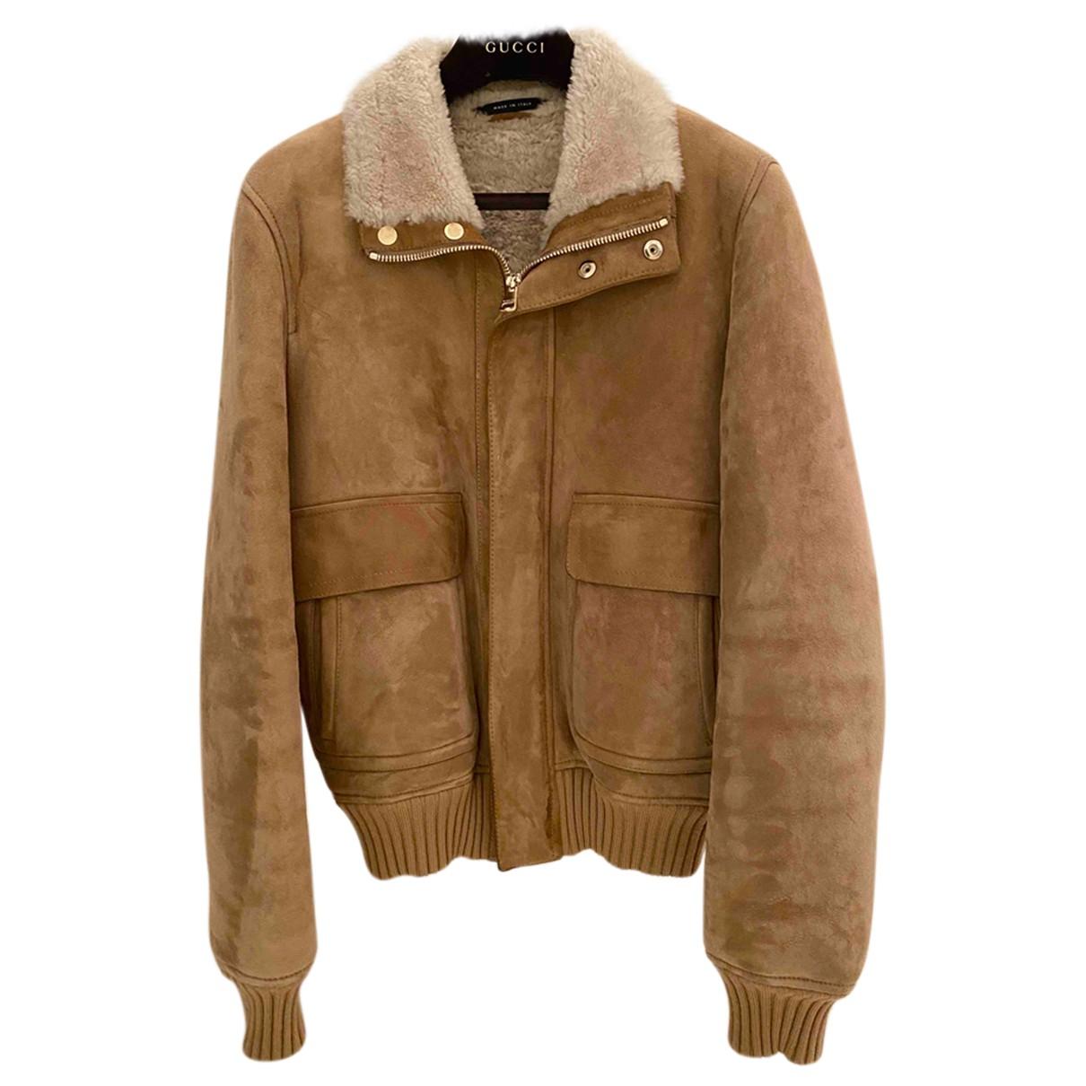 Gucci N Camel Suede jacket  for Men 48 IT