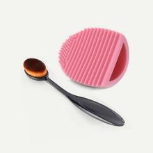 Brocha y limpiador de brocha de maquillaje