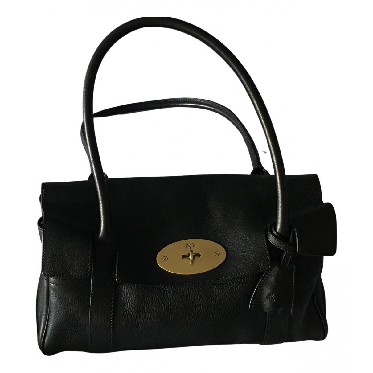 Mulberry Bayswater Small Handtasche in  Schwarz Leder