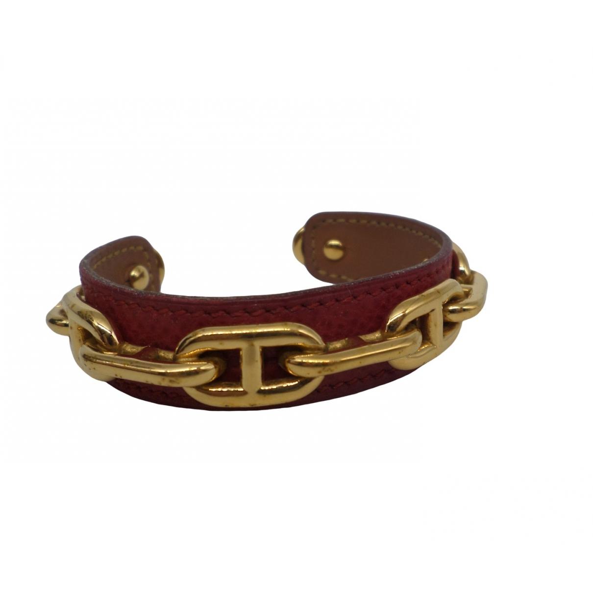 Hermes - Bracelet Chaine dAncre pour femme en metal - dore