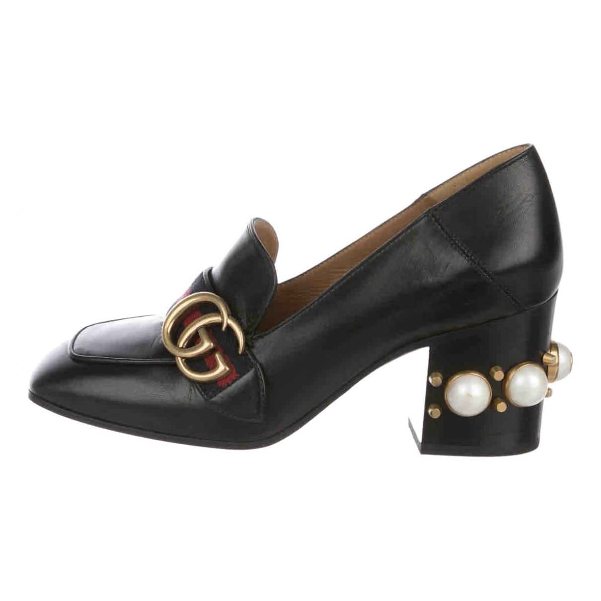 Gucci - Escarpins Peyton pour femme en cuir - noir