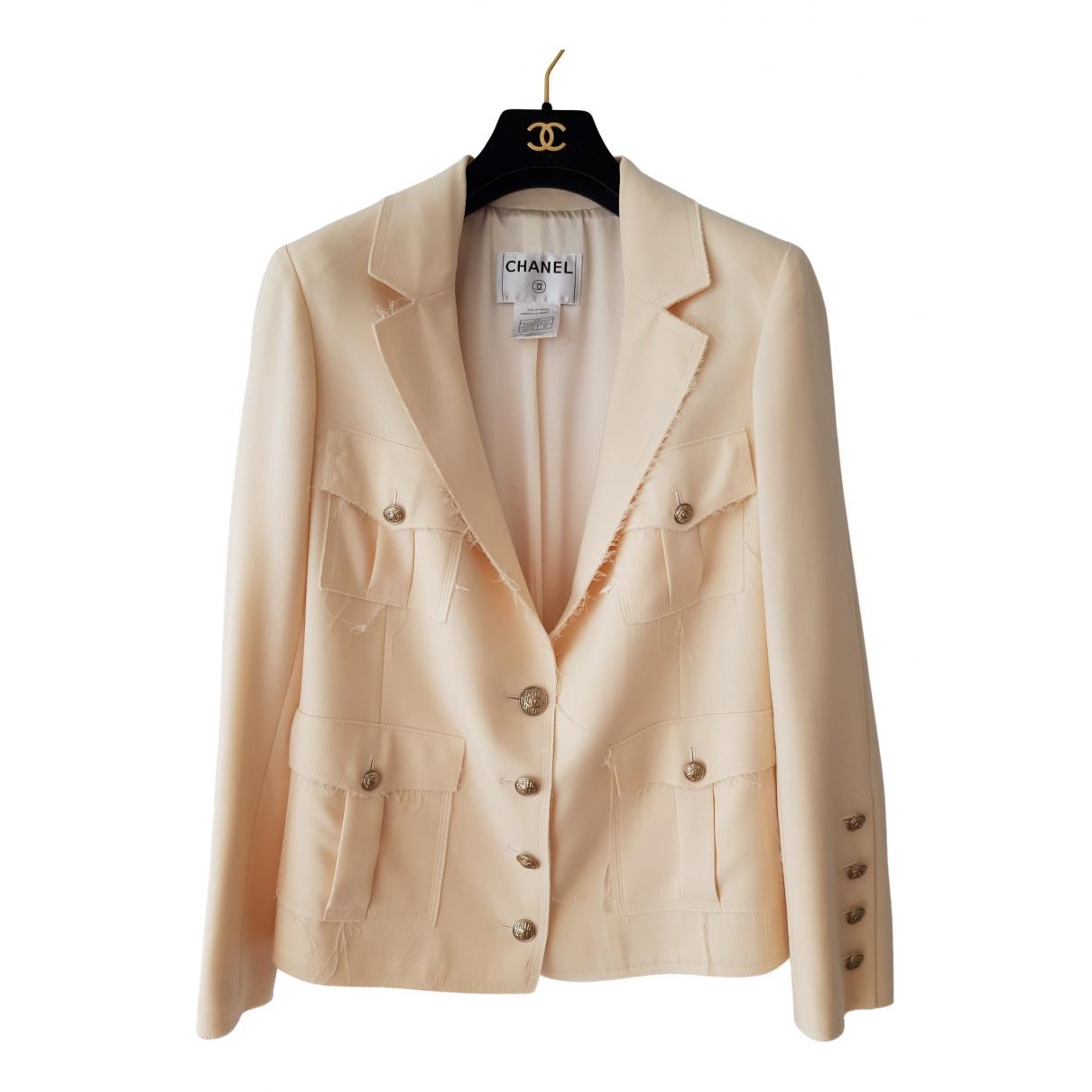Chanel N Ecru Wool jacket for Women 40 FR