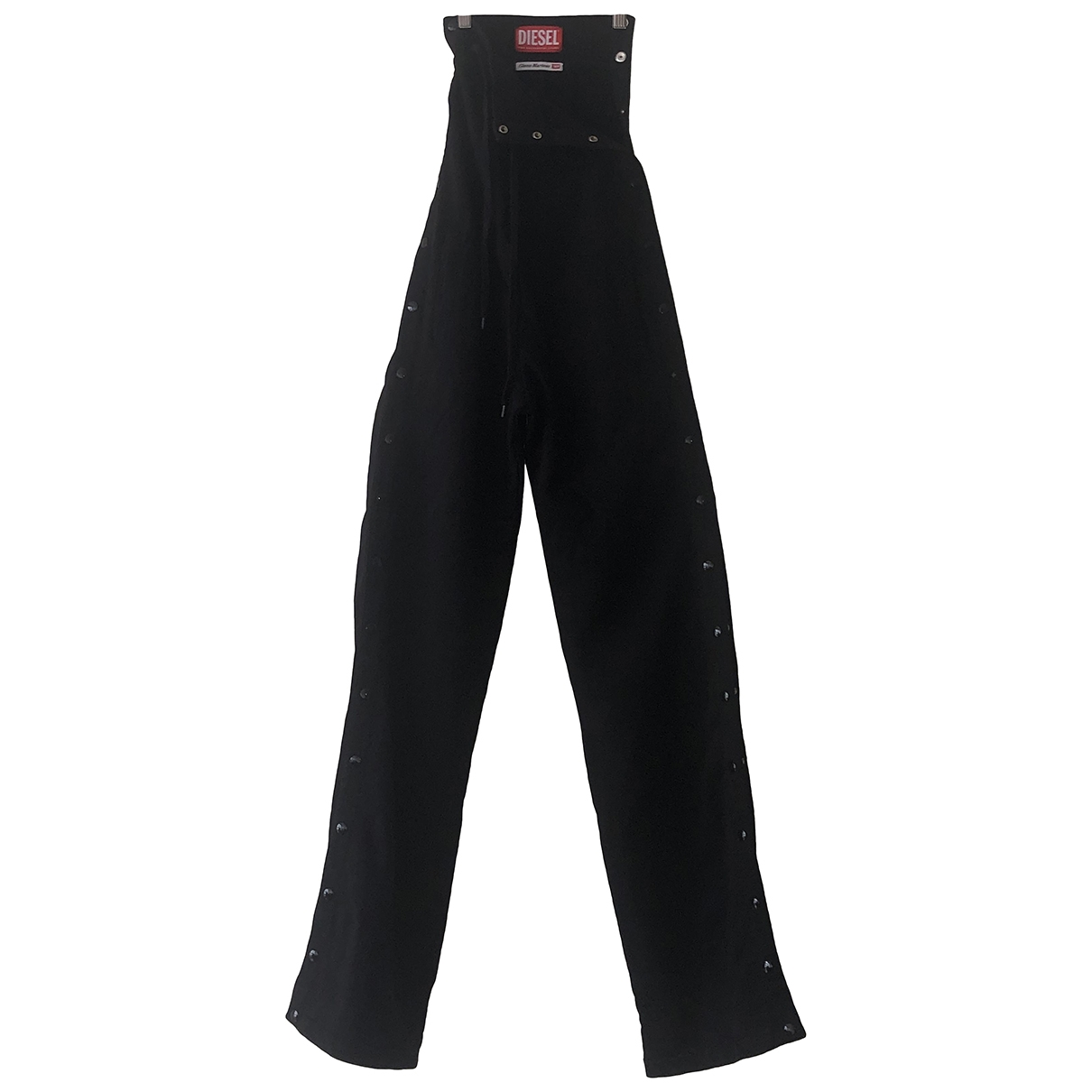 Diesel \N Black Cotton Trousers for Women S International