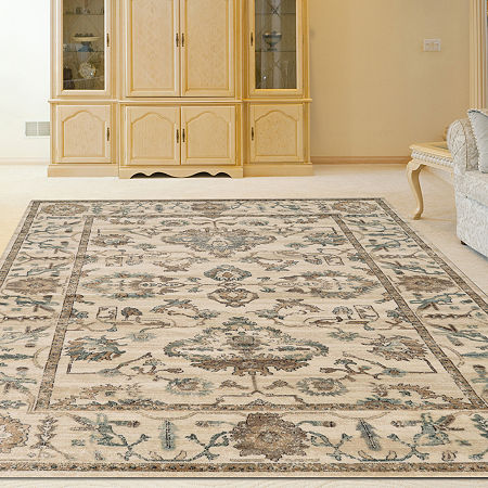 Colosseo Bethany Traditional Oriental Vintage Area Rug, One Size , White