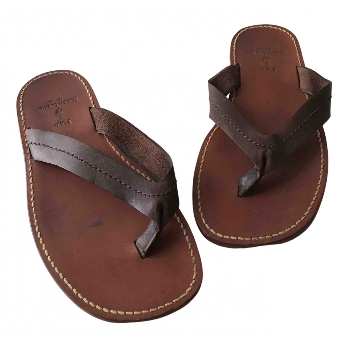 Polo Ralph Lauren \N Brown Leather Sandals for Men 43 EU