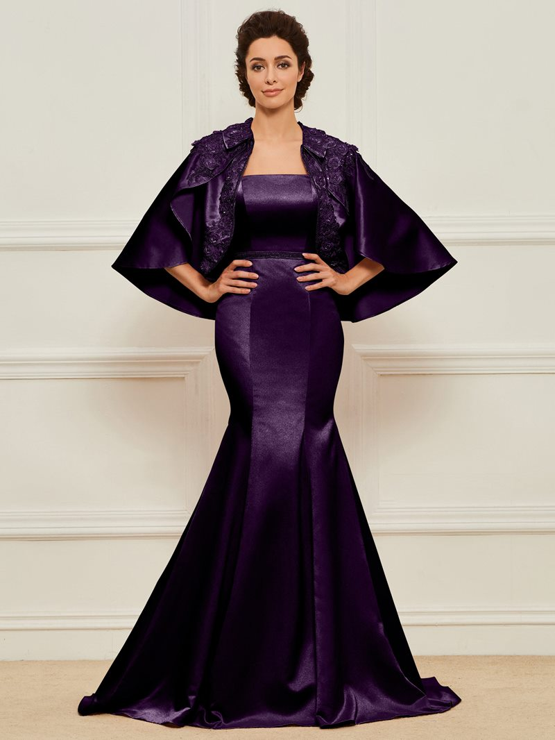 Ericdress Beading Mermaid Mother of the Bride Dress with Jacket