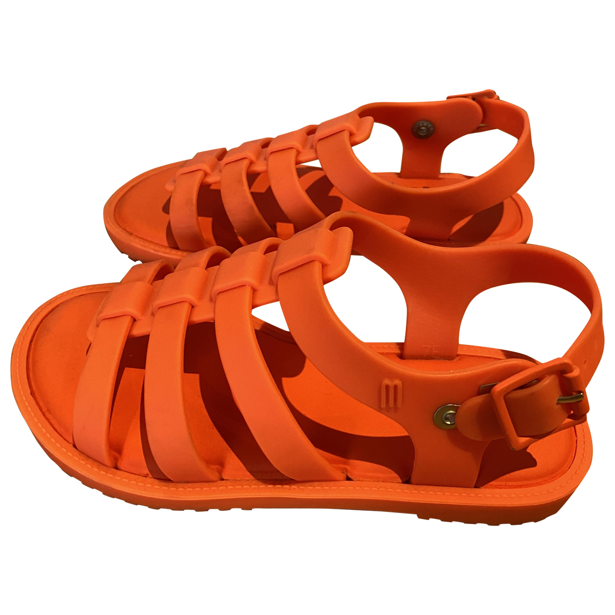 Melissa N Orange Rubber Sandals for Kids 11 US