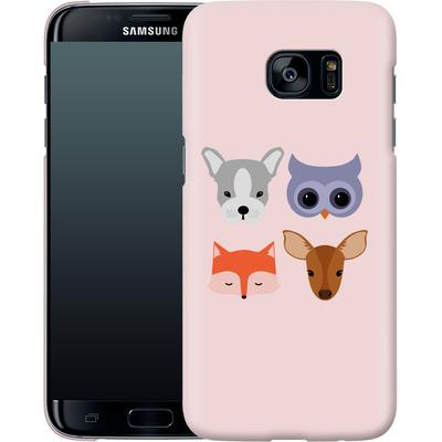 Samsung Galaxy S7 Edge Smartphone Huelle - Animal Friends on Pink von caseable Designs