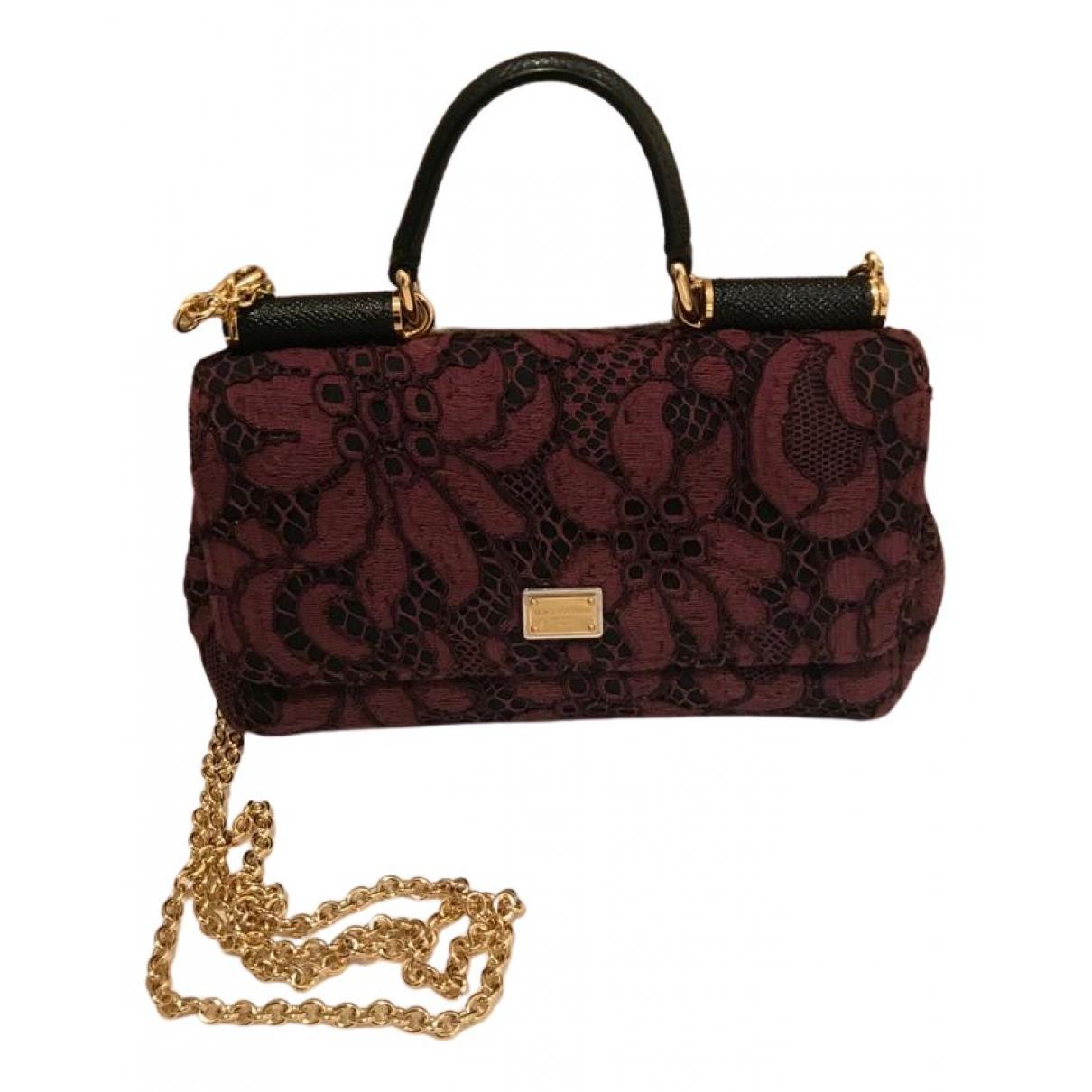 Dolce & Gabbana Sicily Purple Cloth handbag for Women \N