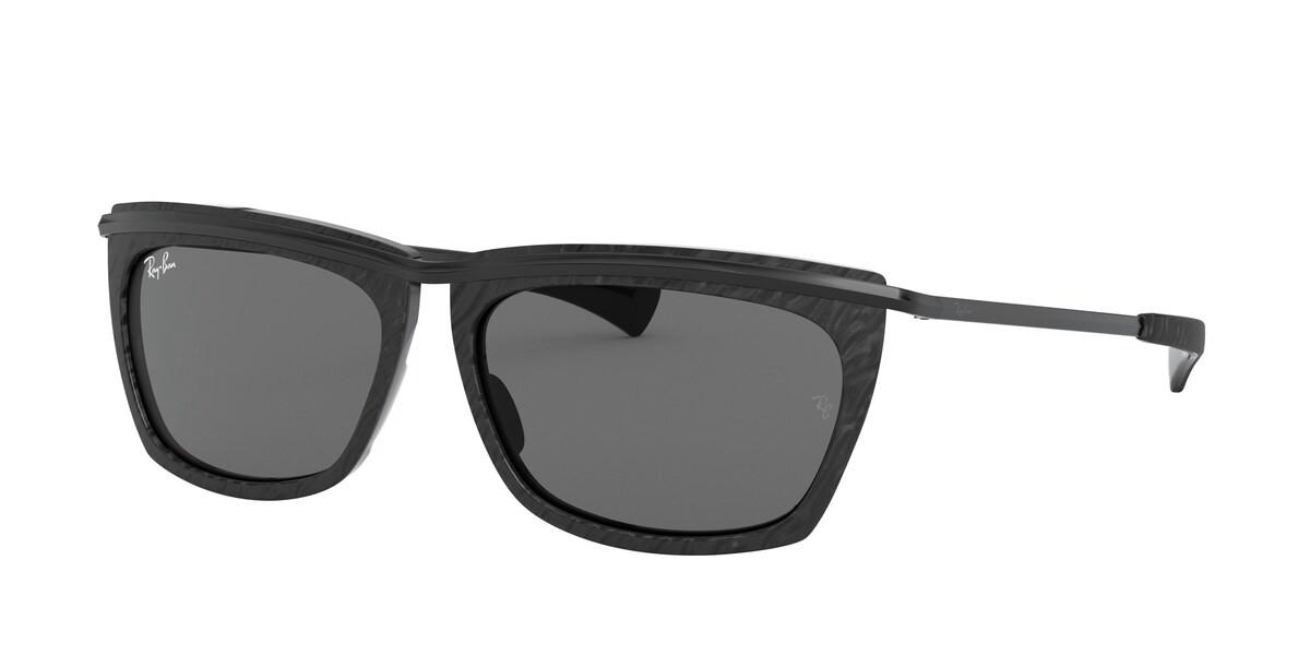 Ray-Ban RB2419 Olympian II 1305B1 Men's Sunglasses Black Size 56