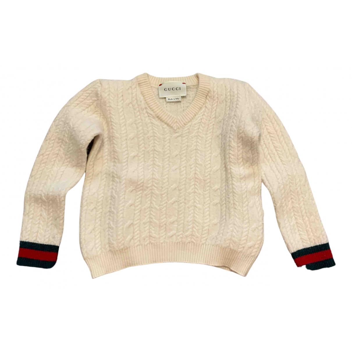 Gucci - Pull   pour enfant en laine - beige