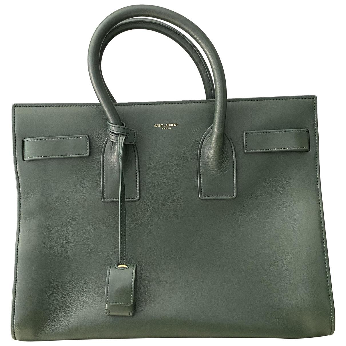 Saint Laurent Sac de Jour Green Leather handbag for Women \N