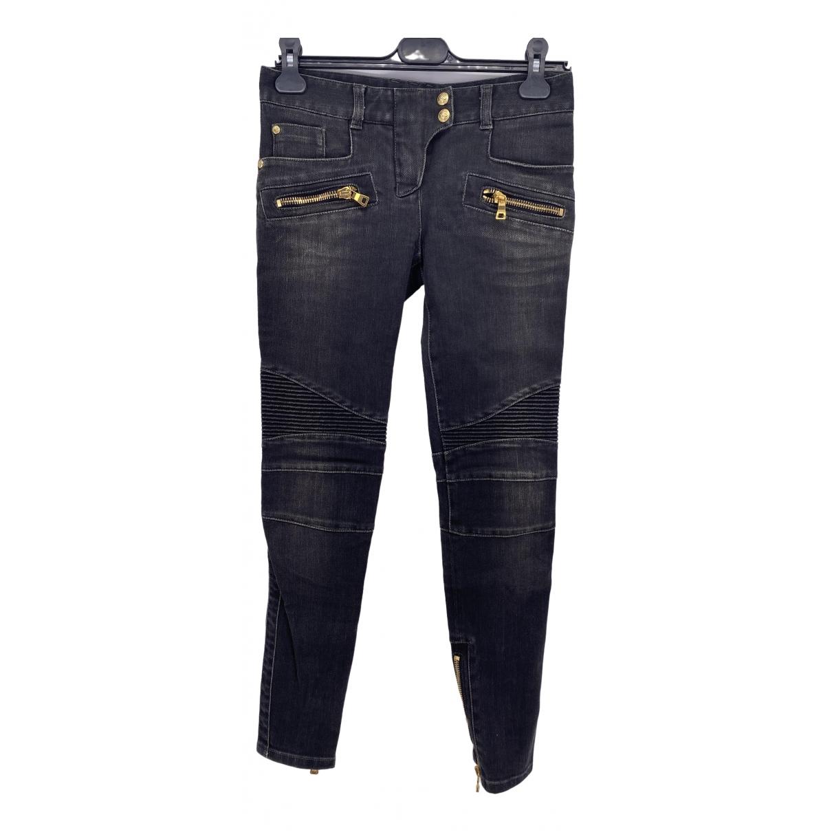 Balmain \N Black Cotton Jeans for Women 25 US
