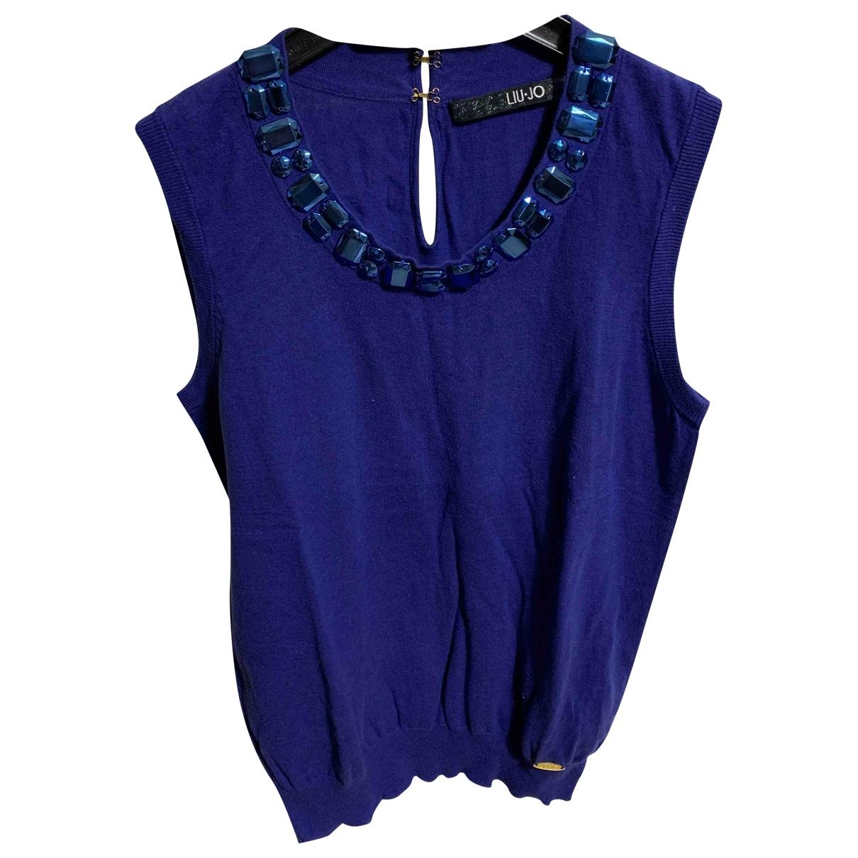 Liu.jo - Top   pour femme en coton - bleu