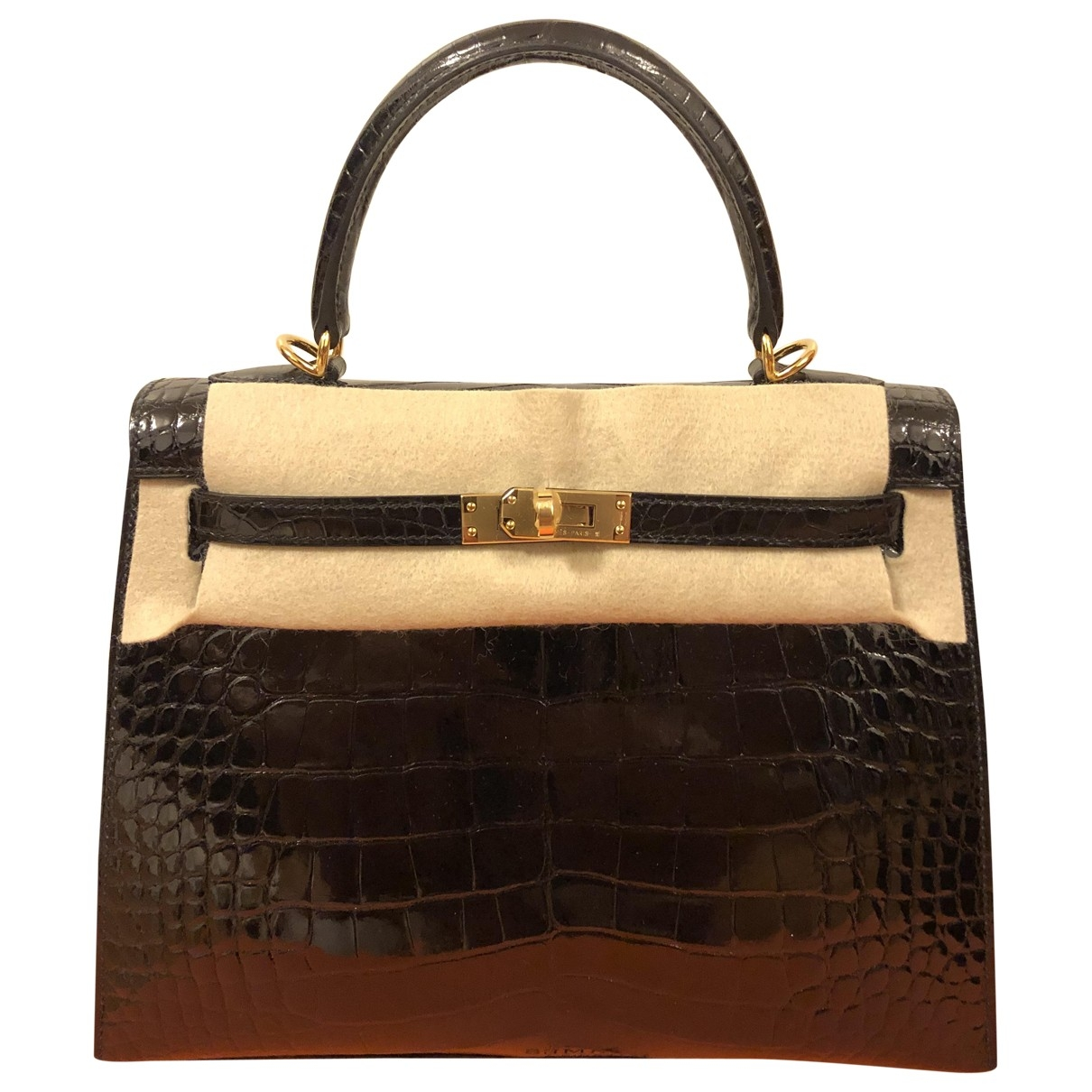 Hermès Kelly 25 Black Crocodile handbag for Women \N