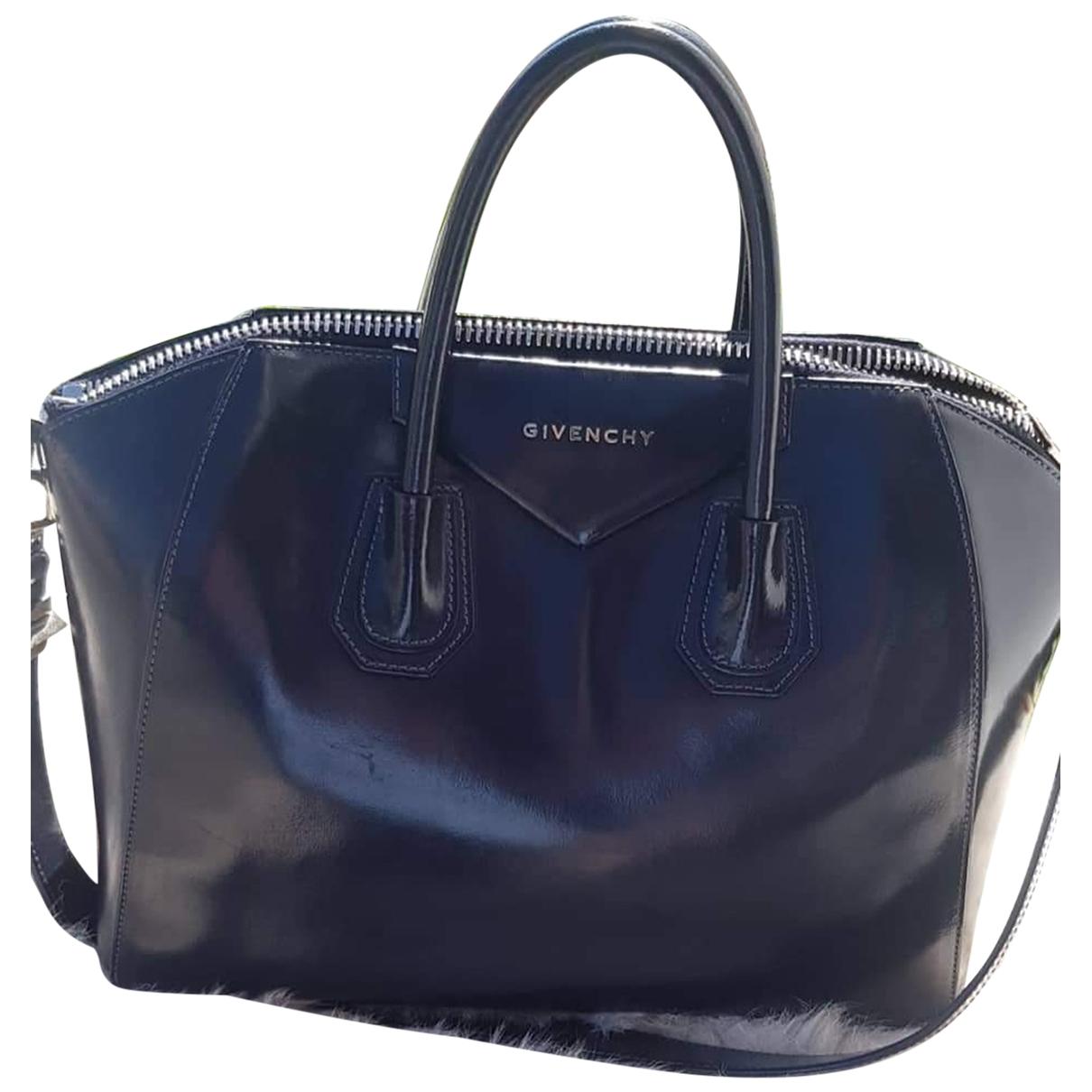 Givenchy Antigona Handtasche in  Marine Leder