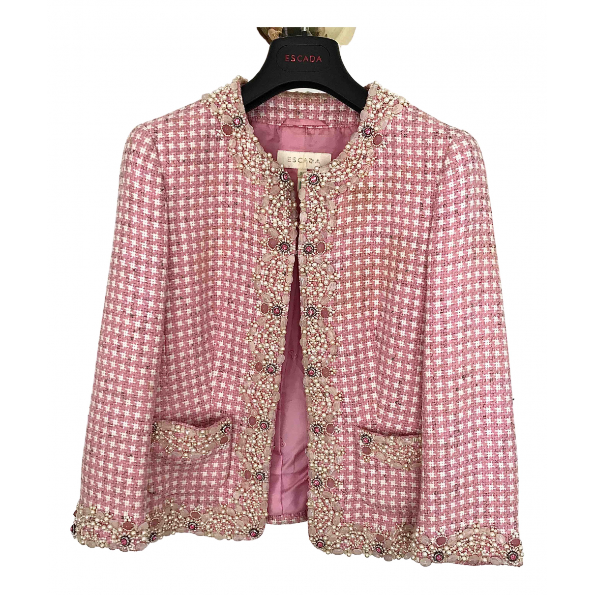 Escada N Pink Wool jacket for Women 34 FR