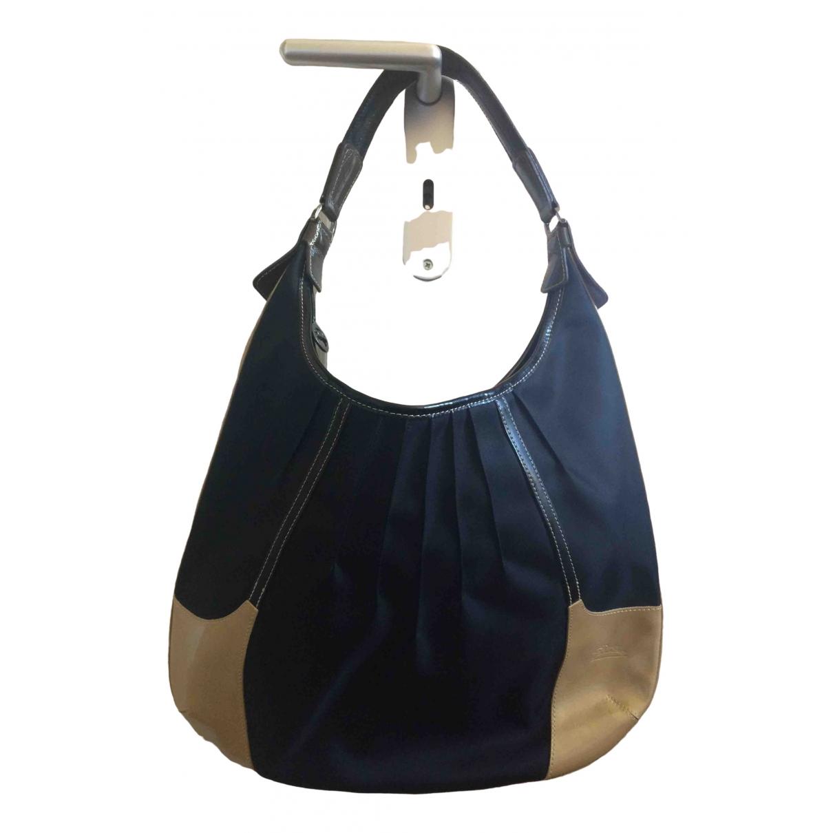 Longchamp \N Handtasche in  Schwarz Leinen