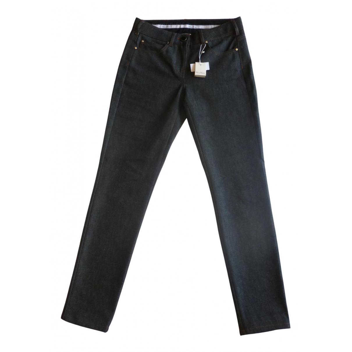 Max Mara N Black Cotton - elasthane Jeans for Women 36 FR