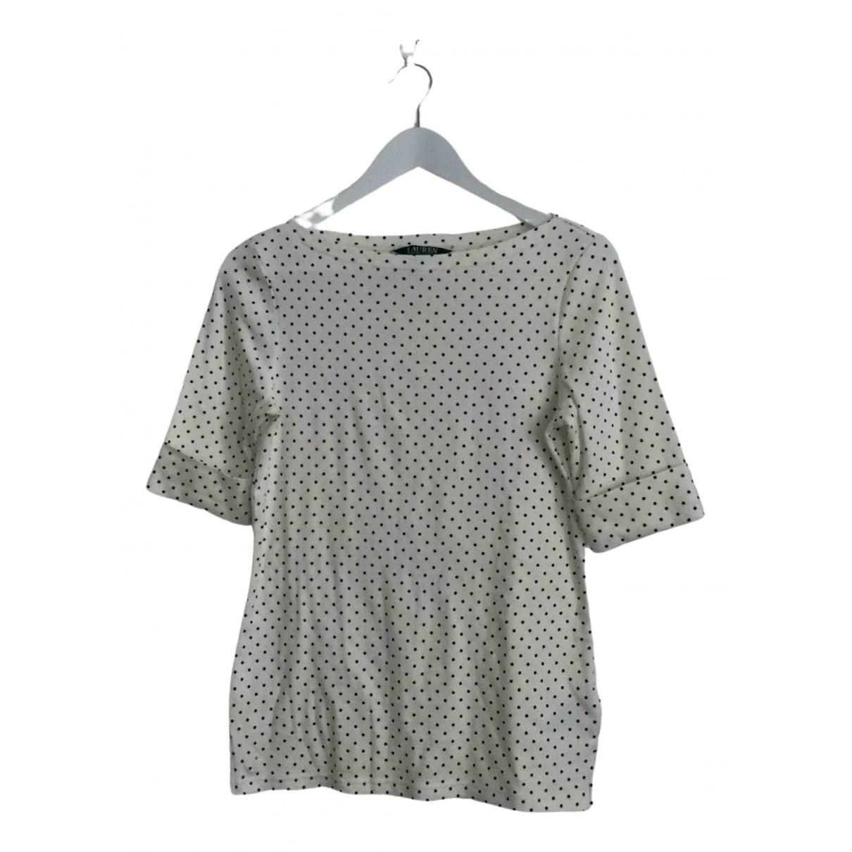 Lauren Ralph Lauren - Top   pour femme en coton - ecru