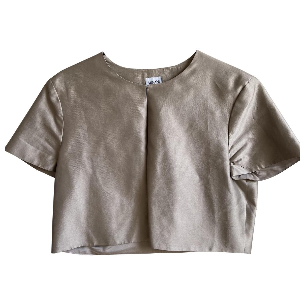 Armani Collezioni \N Camel jacket for Women 44 IT