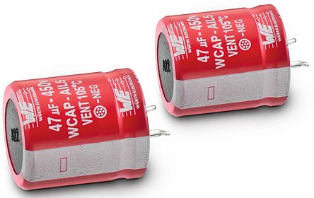 Wurth Elektronik 56μF Electrolytic Capacitor 450V dc, Through Hole - 861111484012 (2)