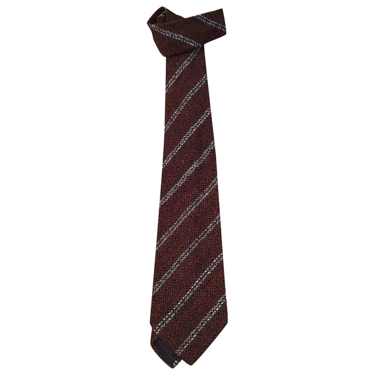 Ermenegildo Zegna \N Krawatten in  Braun Wolle