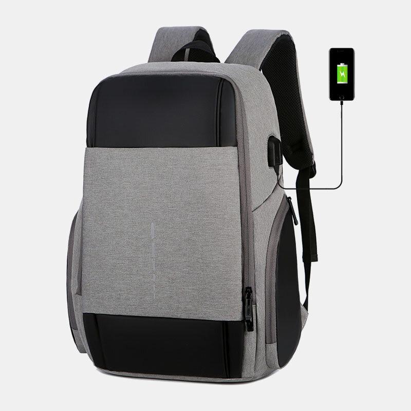 Men 15.6 Inch USB Charging Business Laptop Bag Backpack