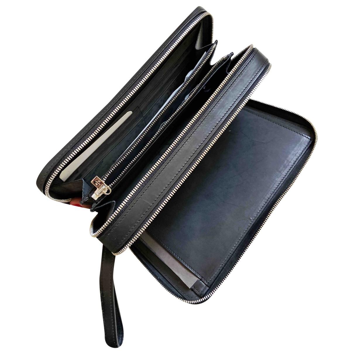 Loro Piana - Petite maroquinerie   pour homme en cuir - noir