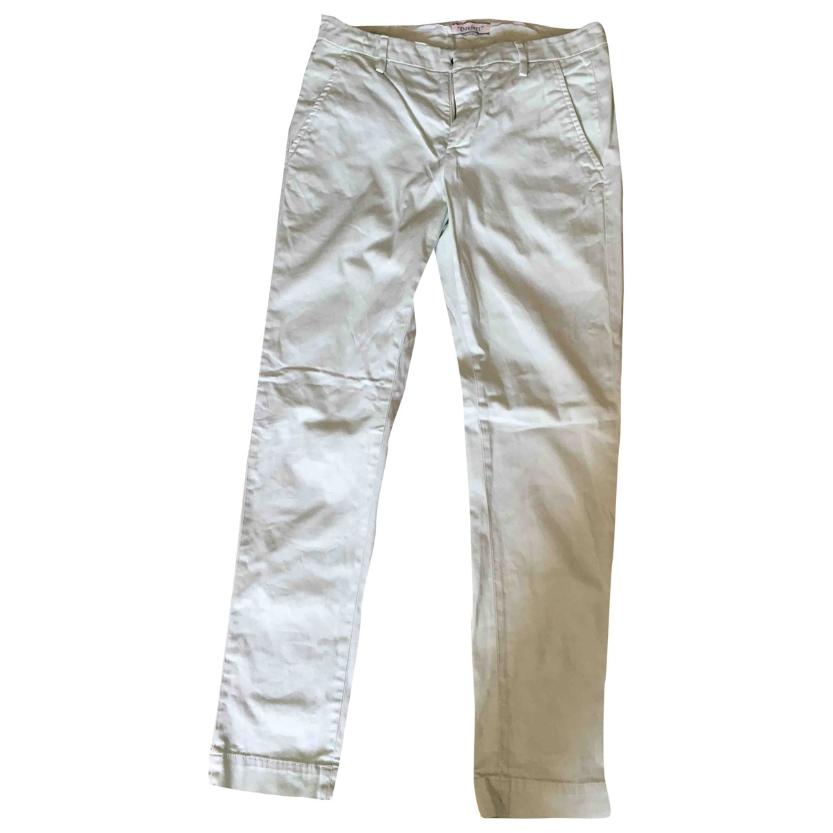 Dondup \N Green Cotton Trousers for Men 44 IT