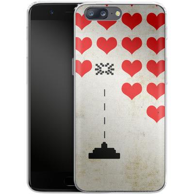OnePlus 5 Silikon Handyhuelle - Heart Attack von Claus-Peter Schops