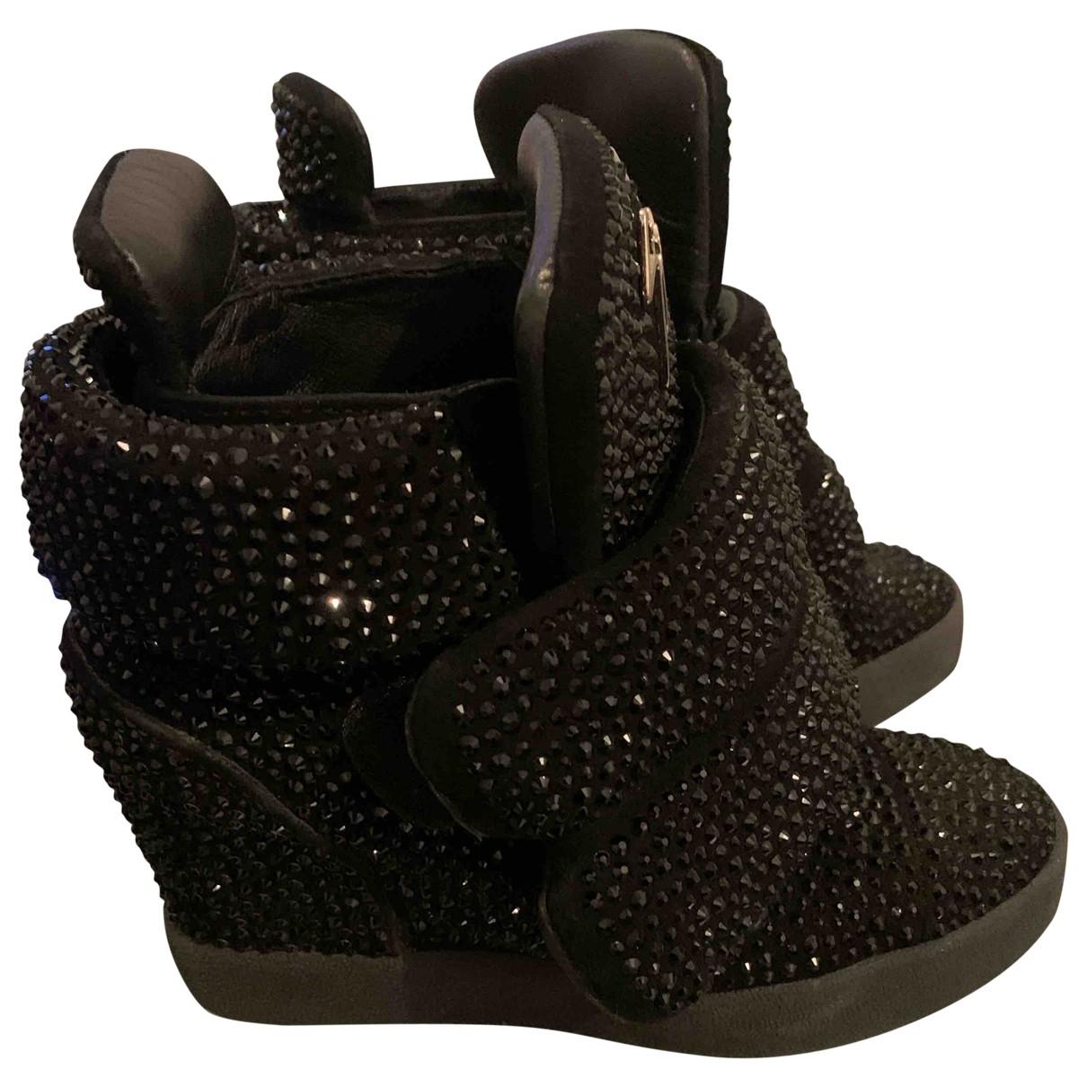 Giuseppe Zanotti \N Sneakers in  Schwarz Mit Pailletten