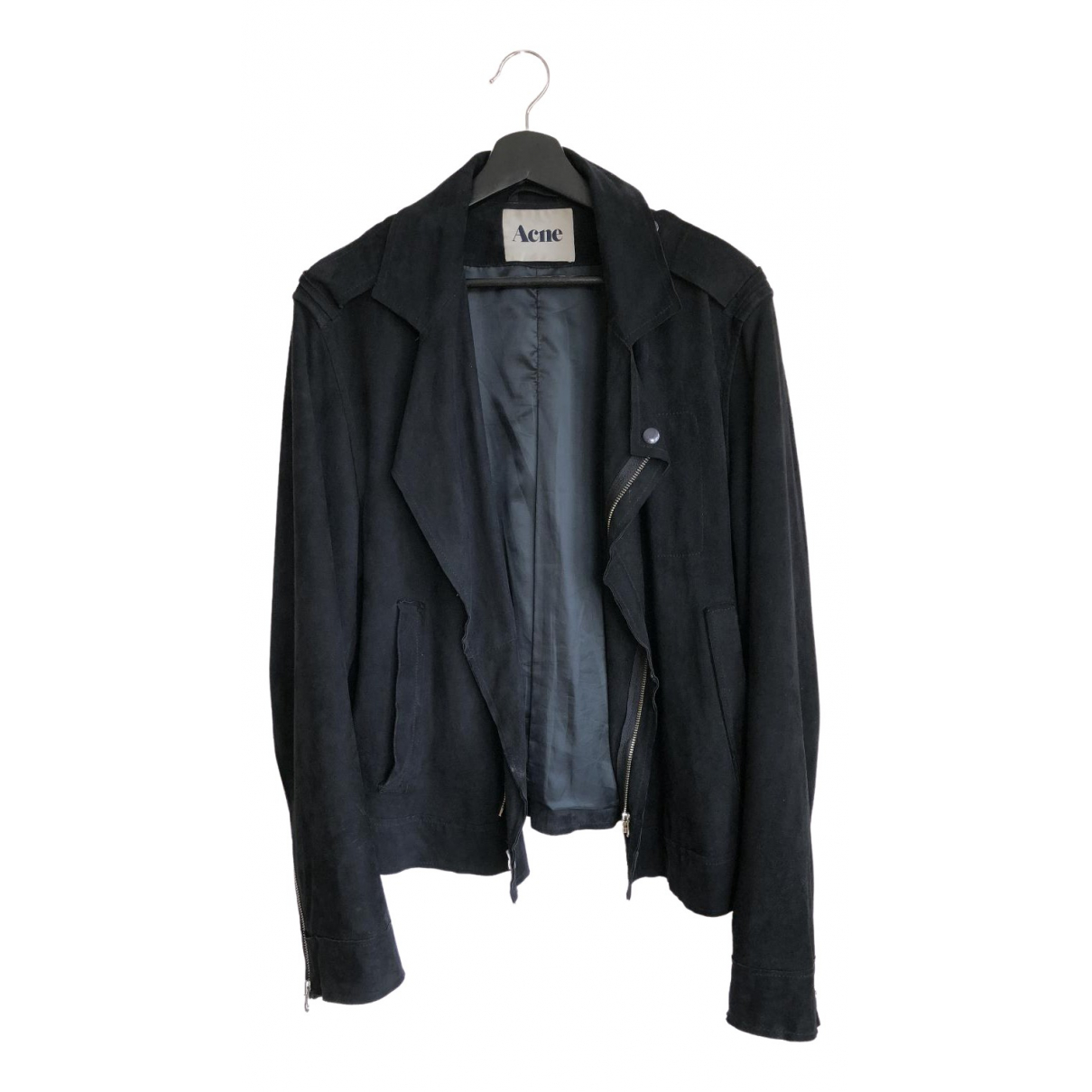 Acne Studios \N Black Suede jacket  for Men 50 FR