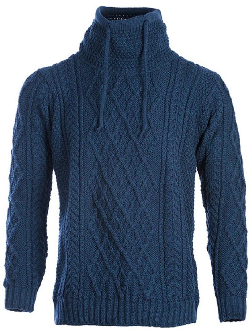 Ericdress Plain Standard Heap Collar England Straight Sweater
