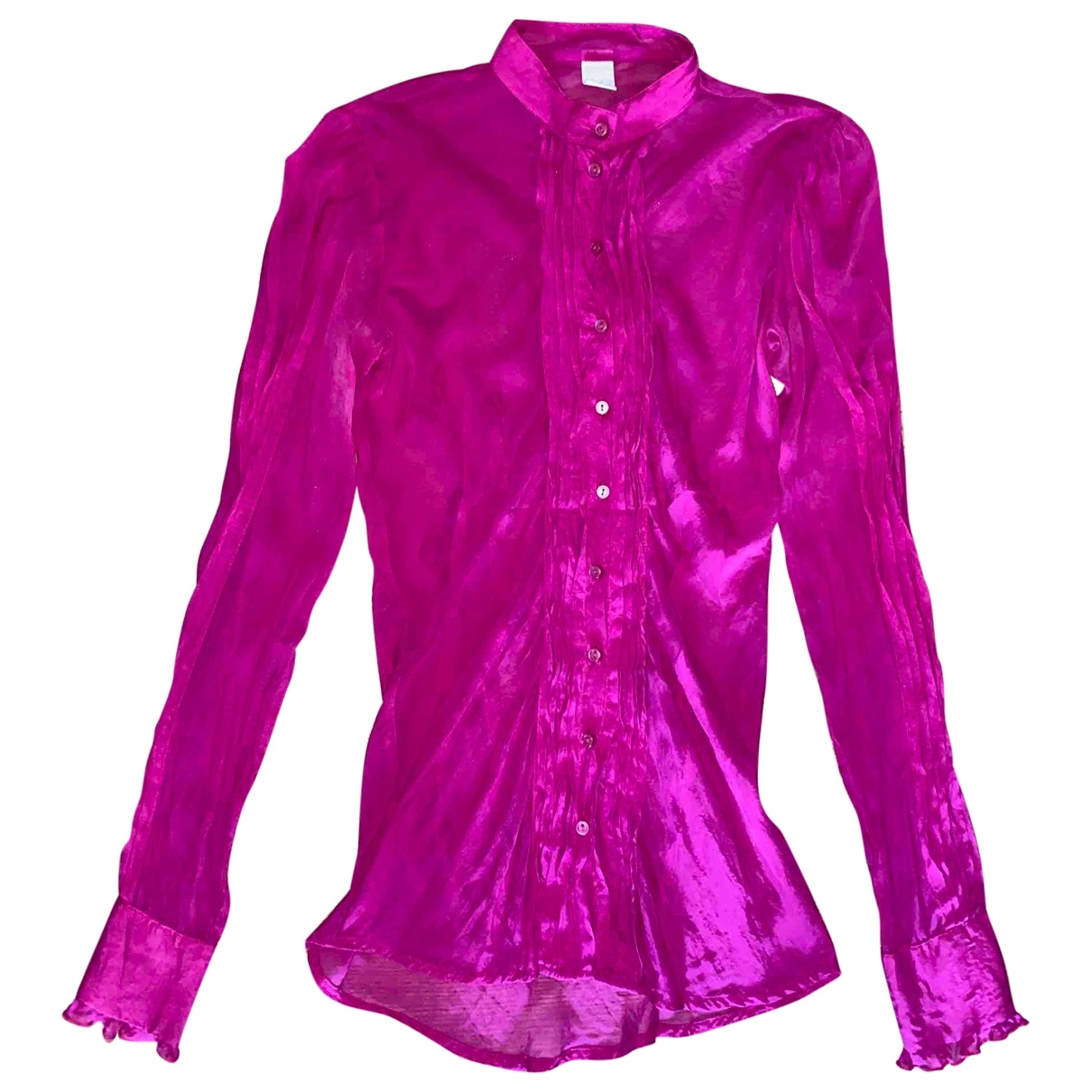 Non Signé / Unsigned \N Purple Silk  top for Women S International
