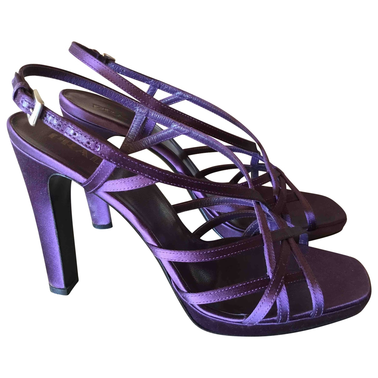 Prada \N Purple Cloth Sandals for Women 39 IT
