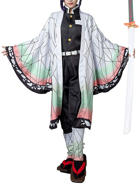 Milanoo Demon Slayer Kimetsu No Yaiba Kochou Shinobu Kimono Only Anime Cosplay Costume
