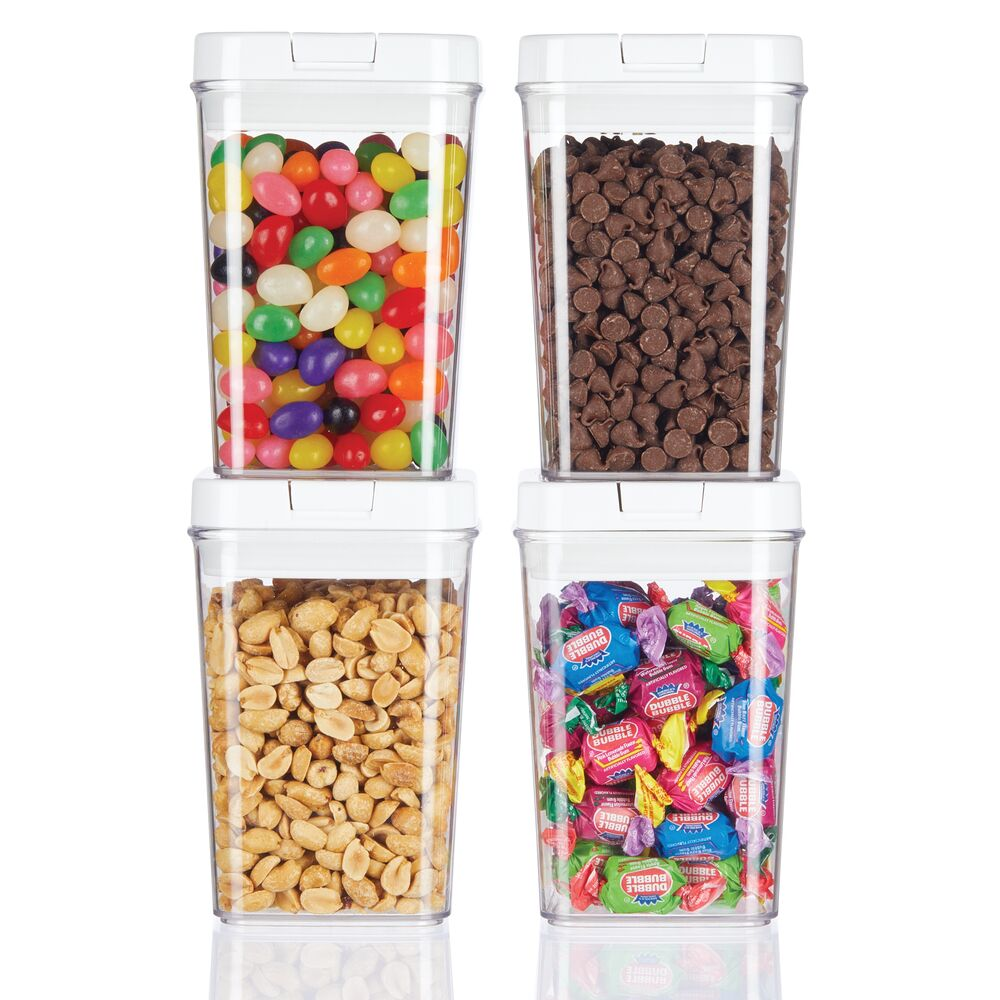 Airtight Food Storage Container with Lid for Kitchen, Pack of, by mDesign