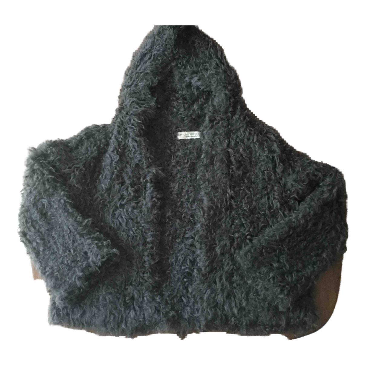Sprung Freres - Veste   pour femme en agneau de mongolie - gris