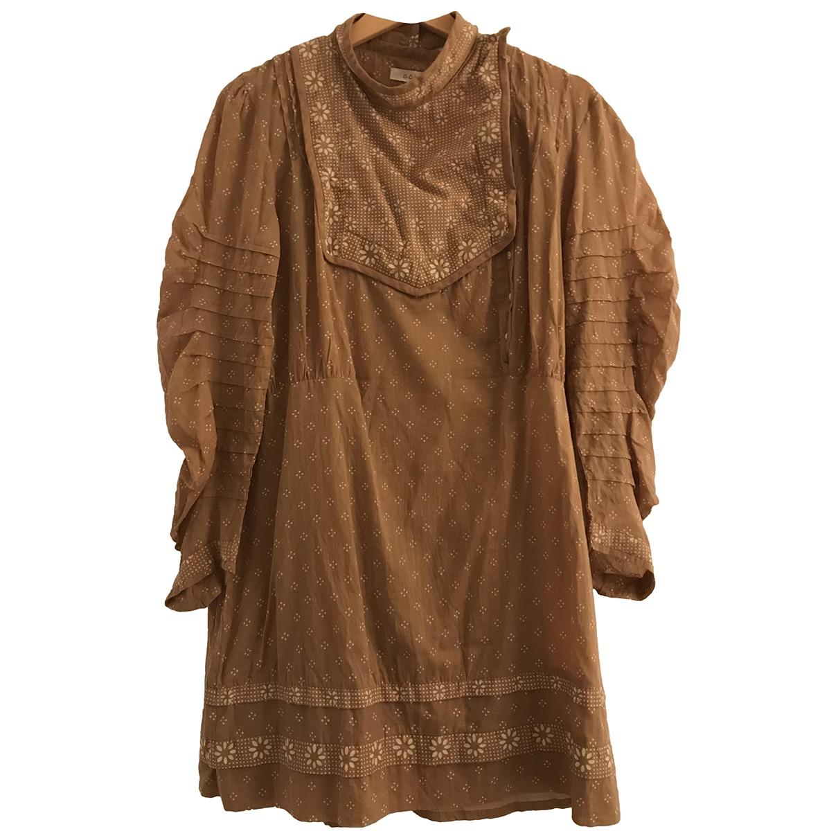 Doen - Robe   pour femme en coton - beige