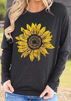 Presale - Sunflower Long Sleeve Sweatshirt - Dark Grey