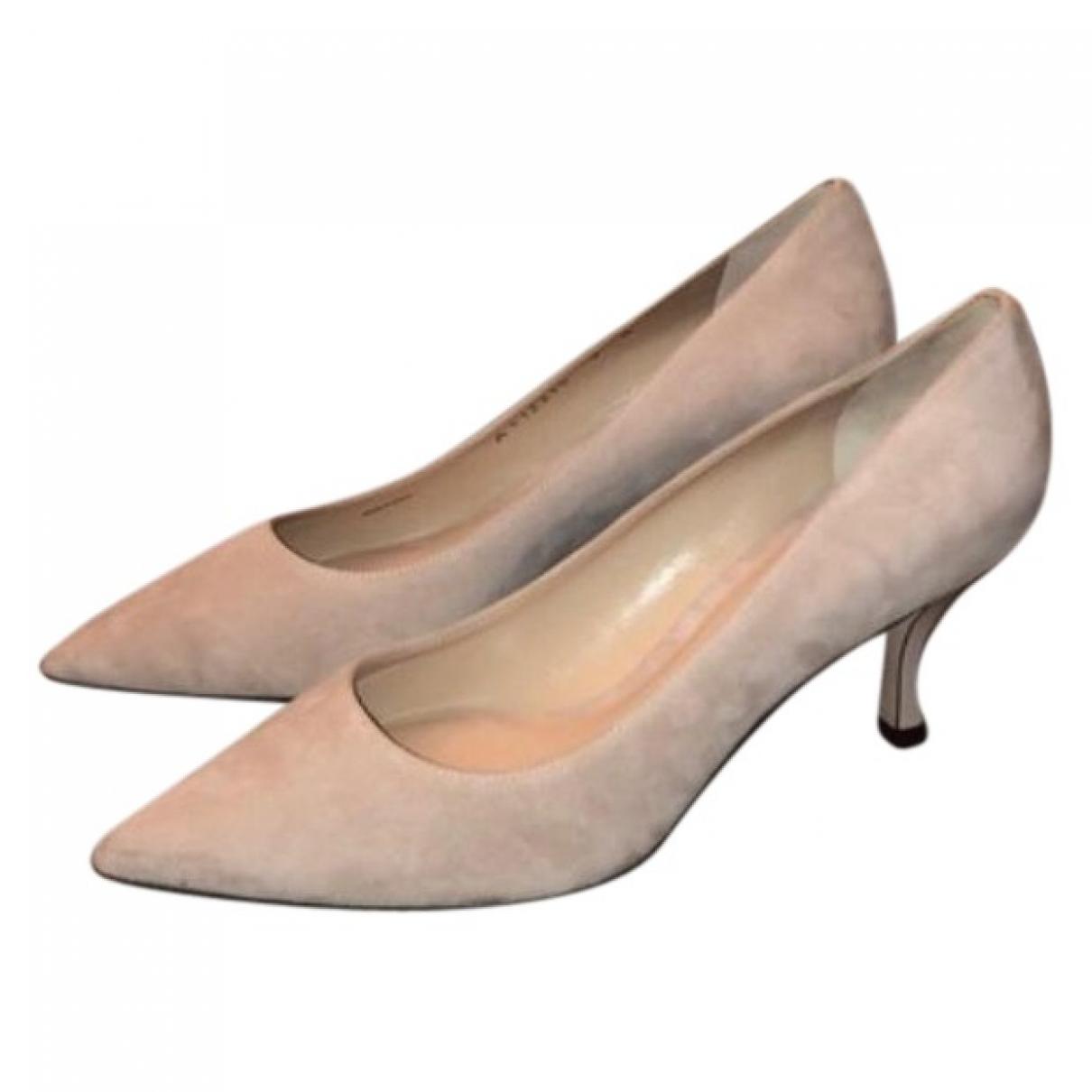 Stuart Weitzman \N Beige Leather Heels for Women 9 US