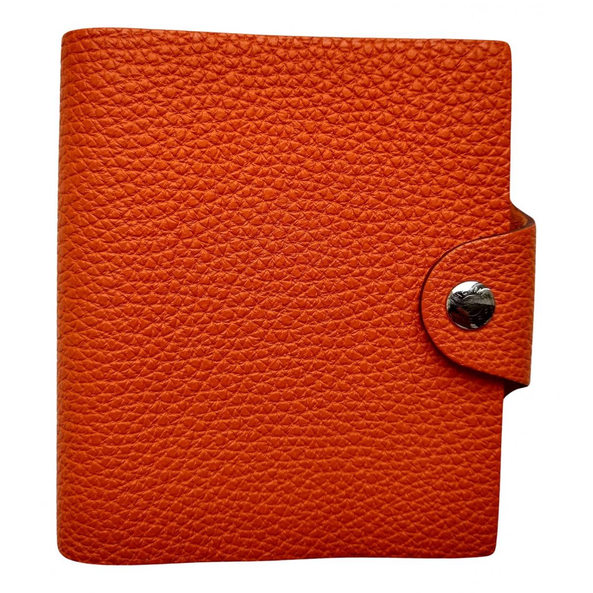 Hermes - Objets & Deco Ulysse MM pour lifestyle en cuir - orange