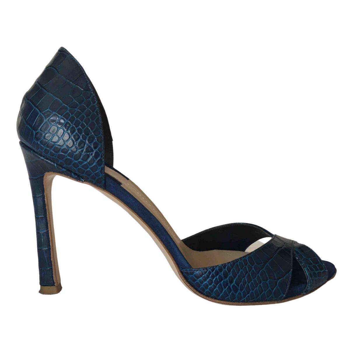 Carlo Pazolini - Sandales   pour femme en cuir - bleu