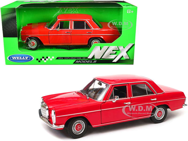 Mercedes Benz 220 Red NEX Models 1/24 Diecast Model Car by Welly
