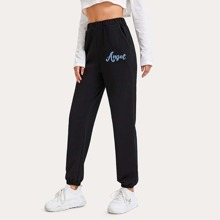 Letter Graphic Sweatpants