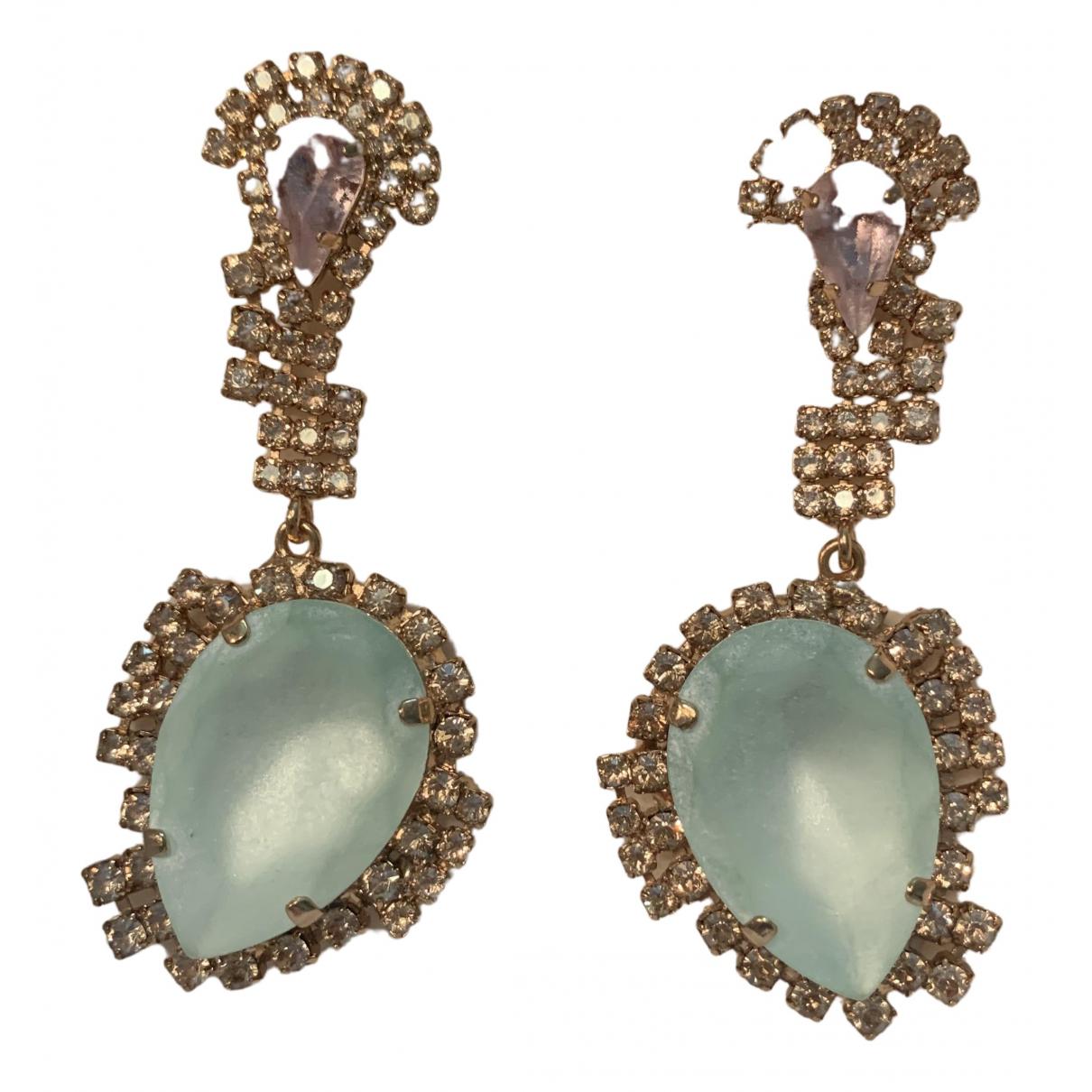 Max Mara \N Green Metal Earrings for Women \N