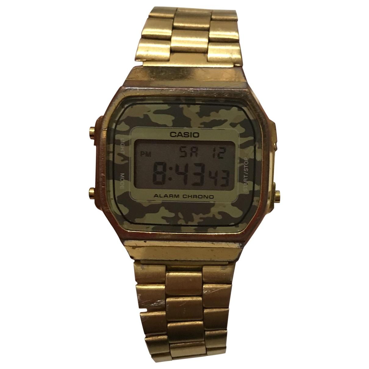 Casio \N Gold Steel watch for Men \N