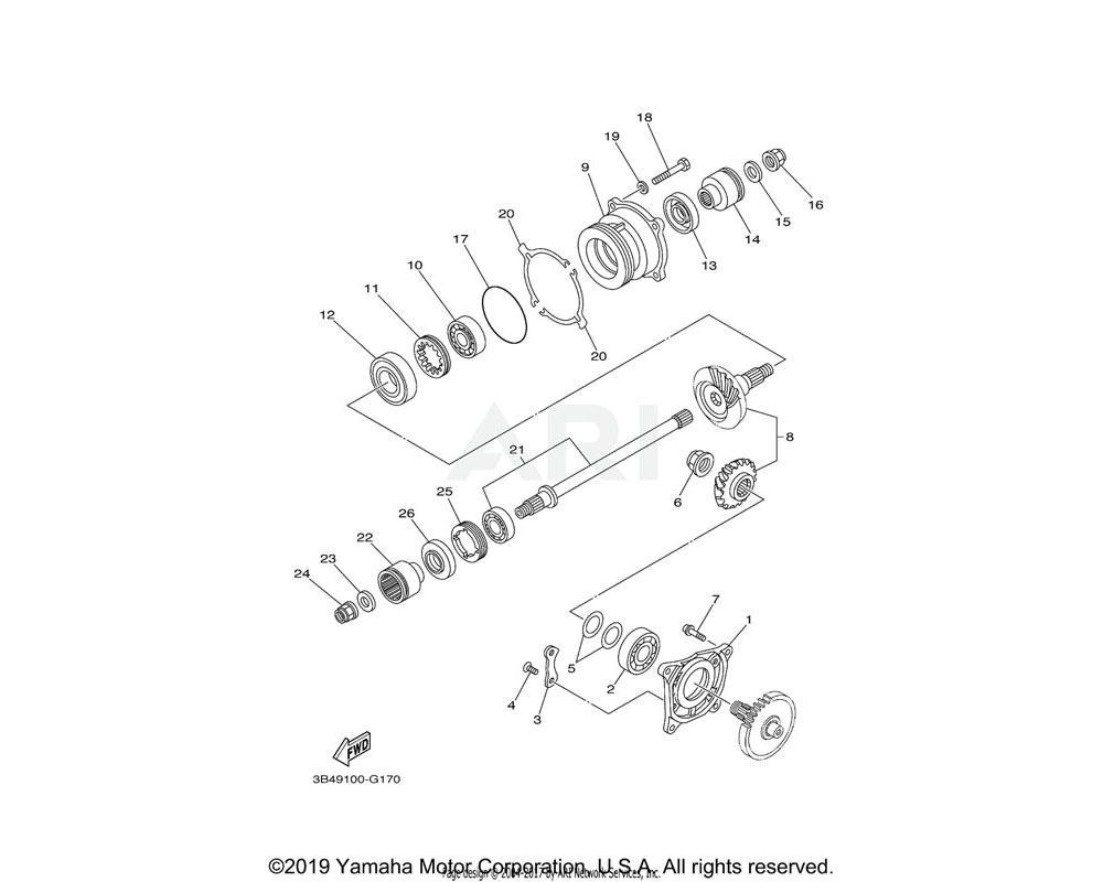 Yamaha OEM 97017-08030-00 BOLT,HEXAGON