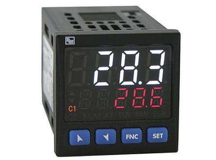 Wachendorff UR4848xA PID Temperature Controller, 48 x 48mm 1 Input, 1 Output Analogue, Relay, SSR, 24  230 V